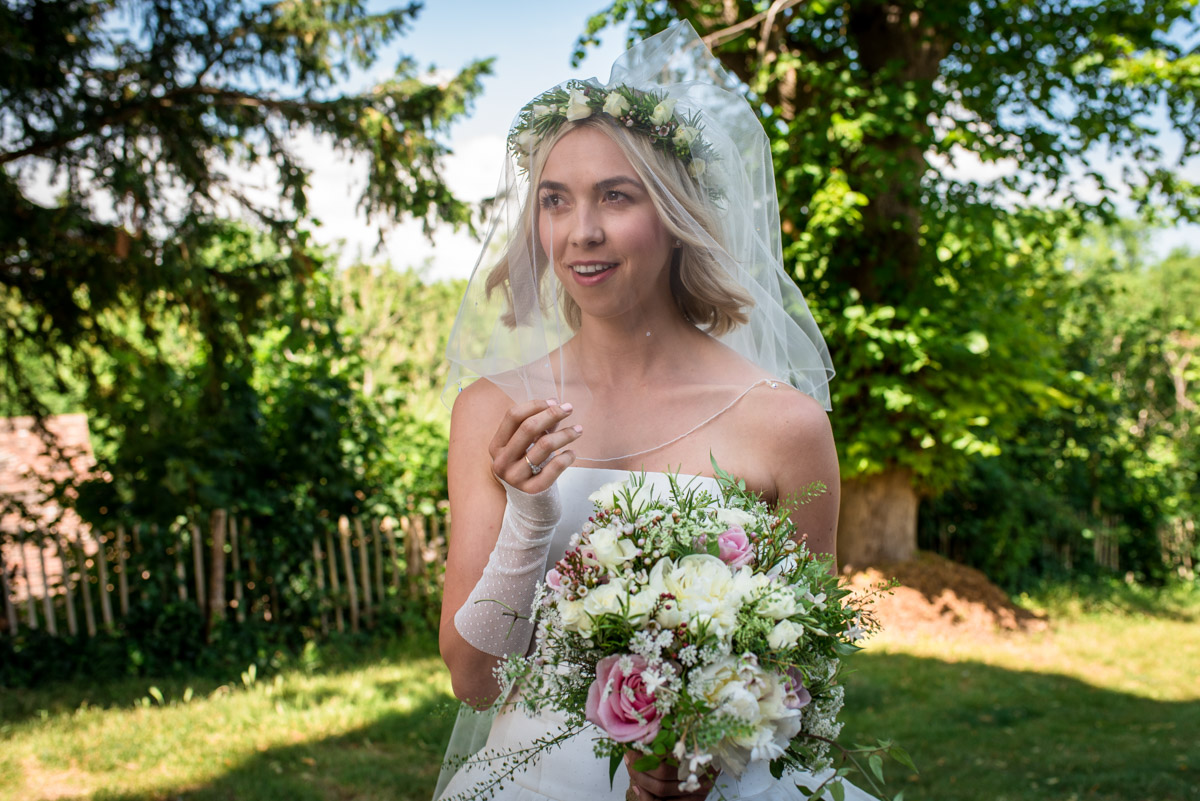 Wedding photograph of anne before her Kent church ceremony