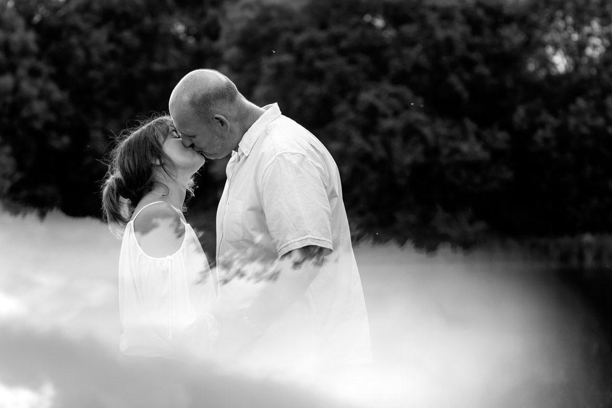 Martina dn debbie photographed kissing during their pre wedding photoshoot at Kents Moat park