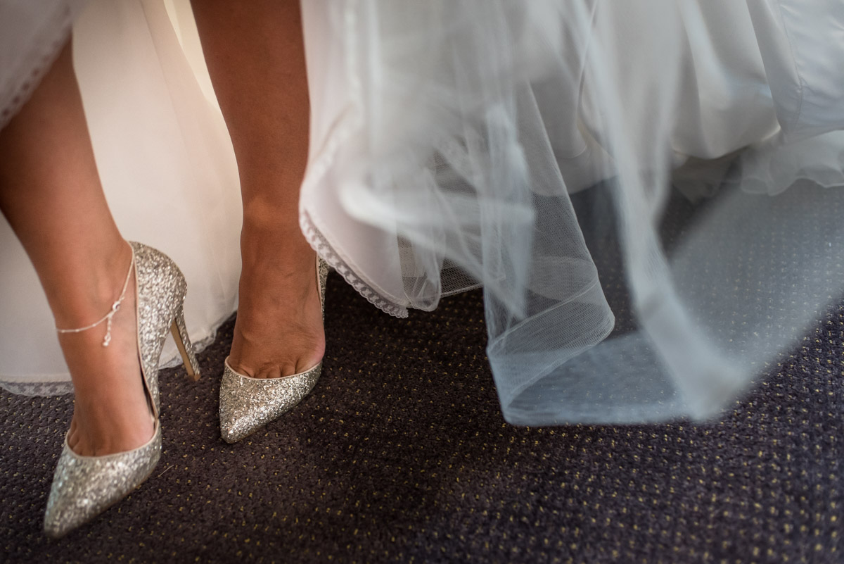 Photograph of Debbies wedding shoes