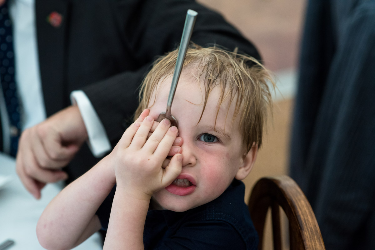 Photograph of little boy at emily and Toms wedding in east sussex