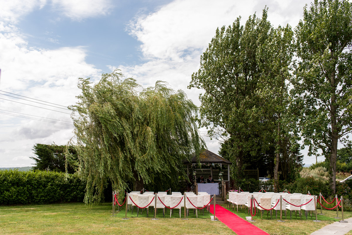Wedding photography at The Crescent Turner Hotel ceremony area
