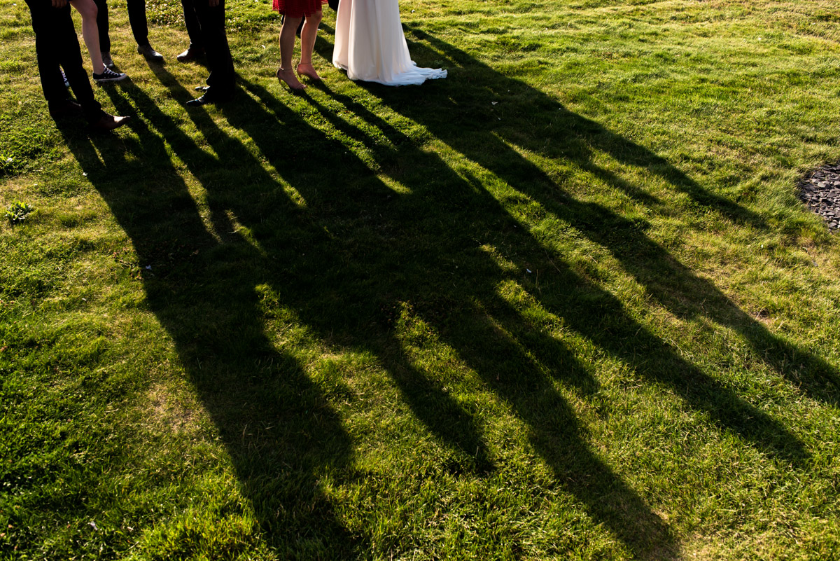 Wedding photography at the Crescent Turner Hotel, shadows of guests