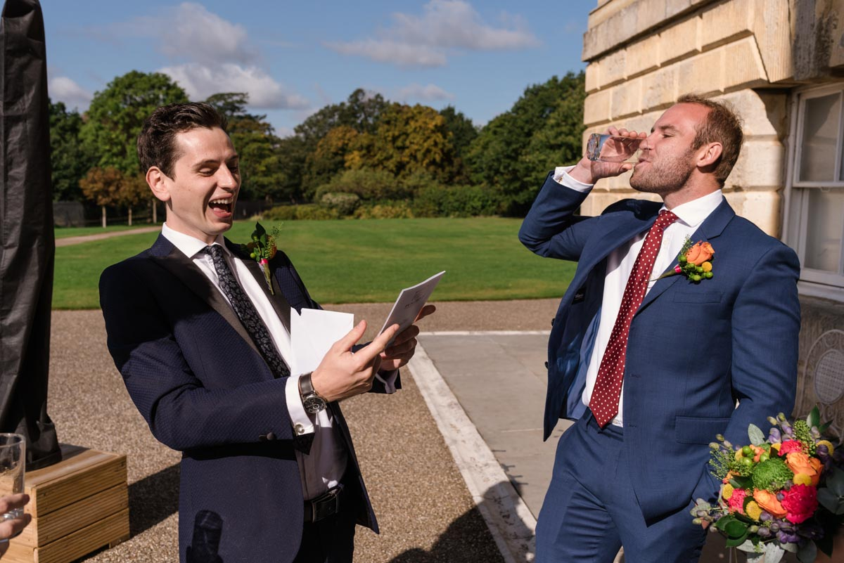 James and best man before his Danson House wedding