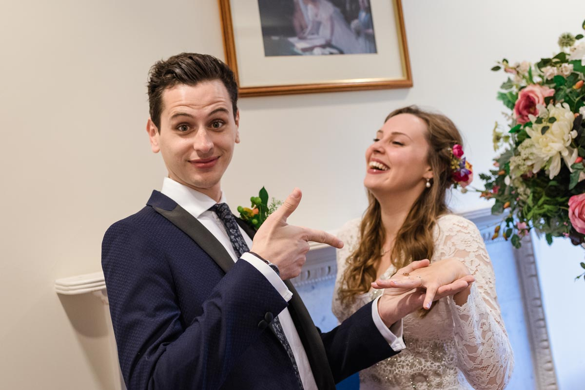 Photograph of James and Alex at Danson House in Kent