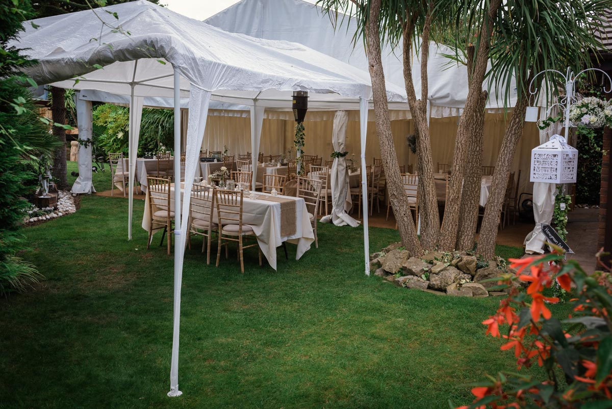 Wedding photography in Broadstairs, garden reception