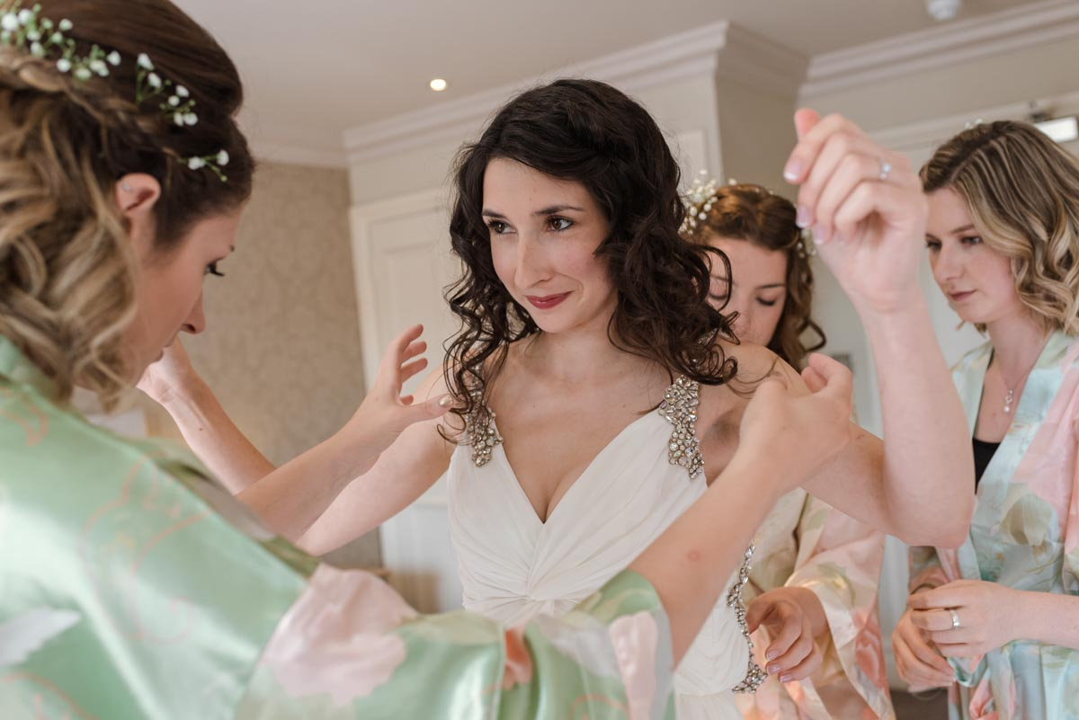 Claire and her bridesmaids getting ready for wedding in Broadstairs
