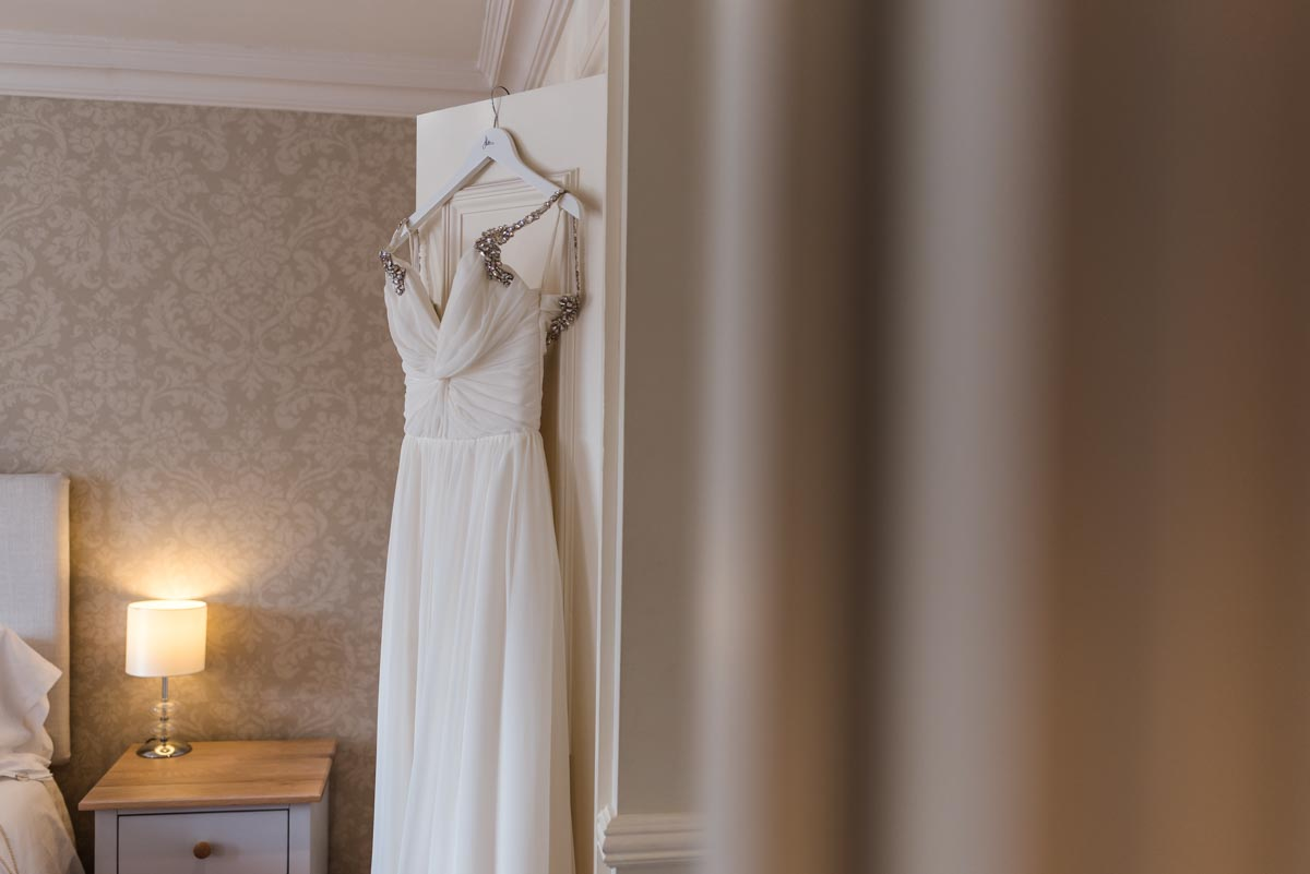 wedding dress photograph at Botany Bay hotel