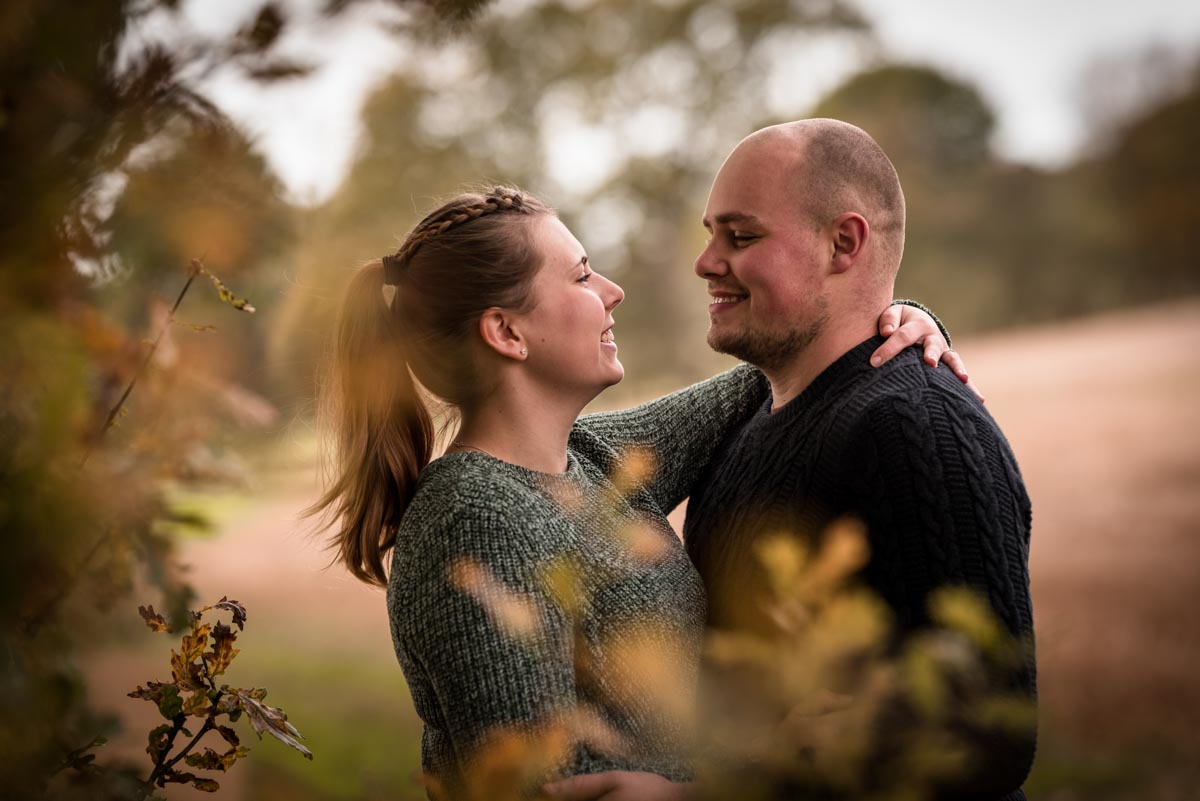Photograph of Rachel and Ryan during their farm pre wedding photoshoot