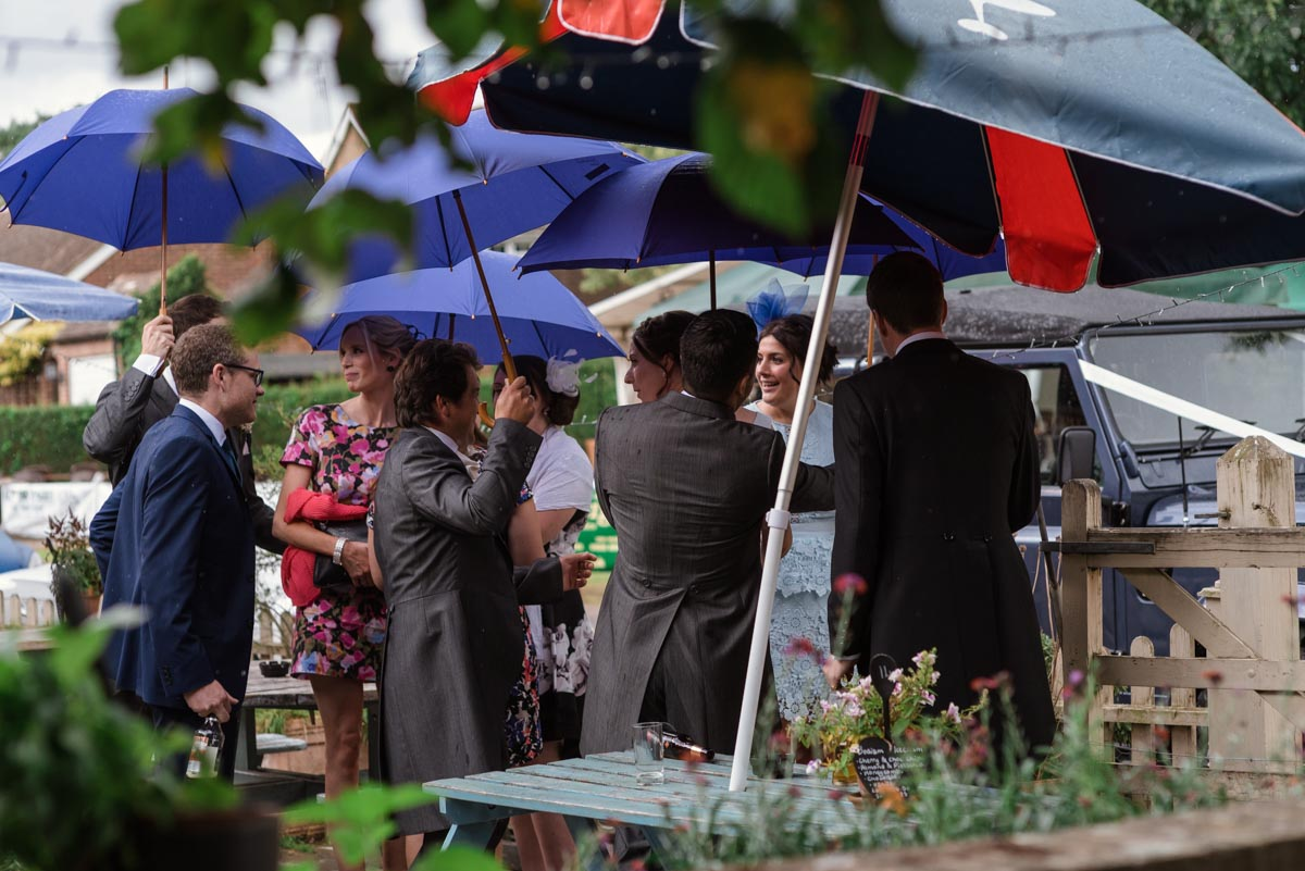 Guests at Rebecca and james Smarden church wedding in kent