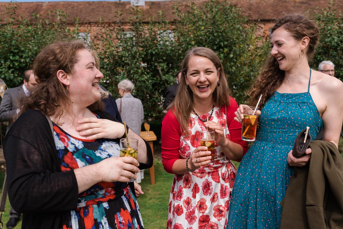 Photograph of Chris and sarahs guests at the secret garden wedding