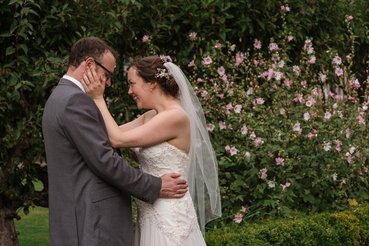 wedding photography at the secret garden, sarah and chris together