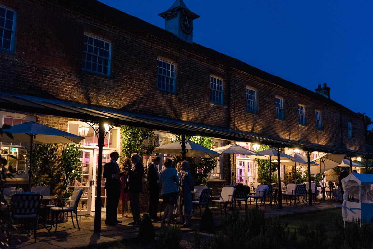 Photograph of The coach house at the secret garden at dusk