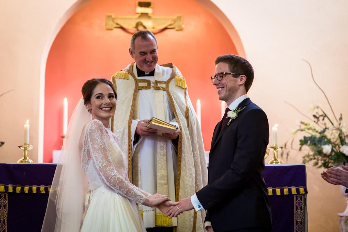 Halifax church wedding. Katherine and Tom are declared married