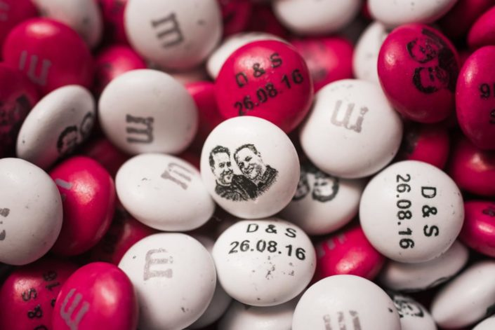Wedding M&M sweets with your faces on