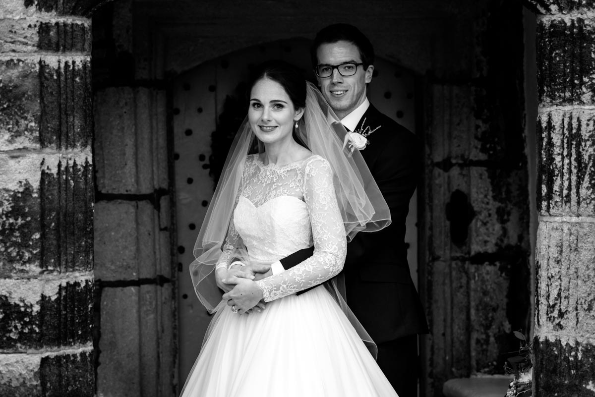 Portrait of Katherine & Tom at Holdsworth House