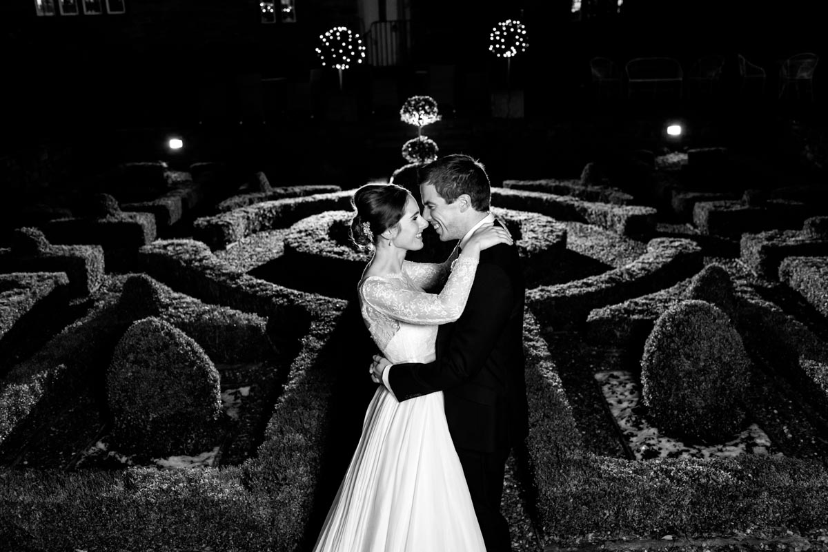 Photograph of Katherine and Tom in the gardens at Holdsworth house