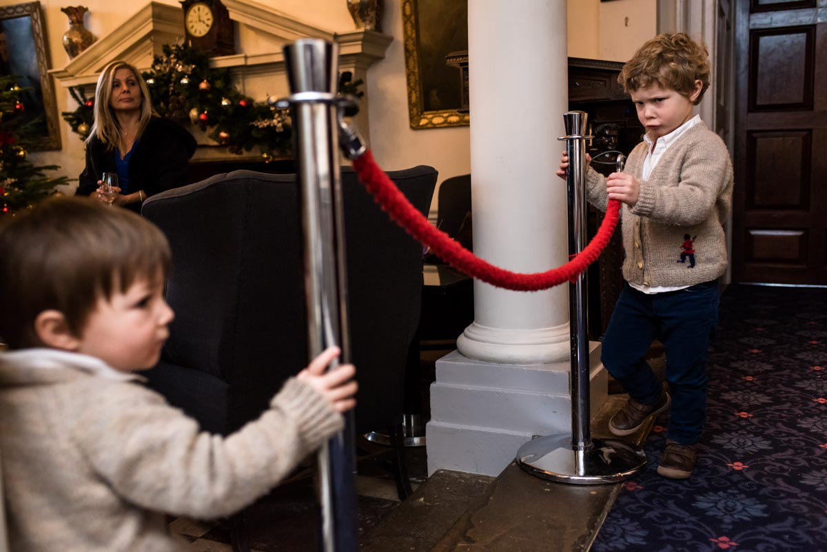 two boys at wedding at Jo and Grahams chilston park hotel