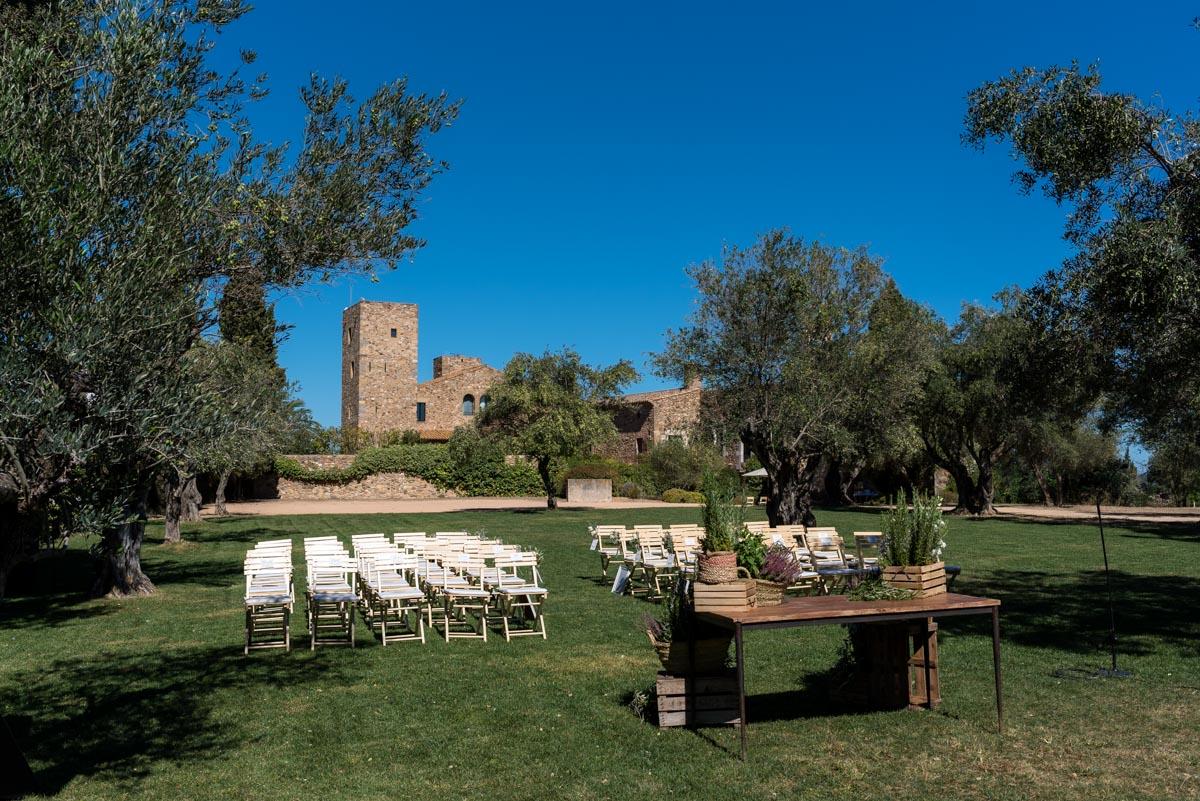 Photograph of castell d'emporda wedding venue