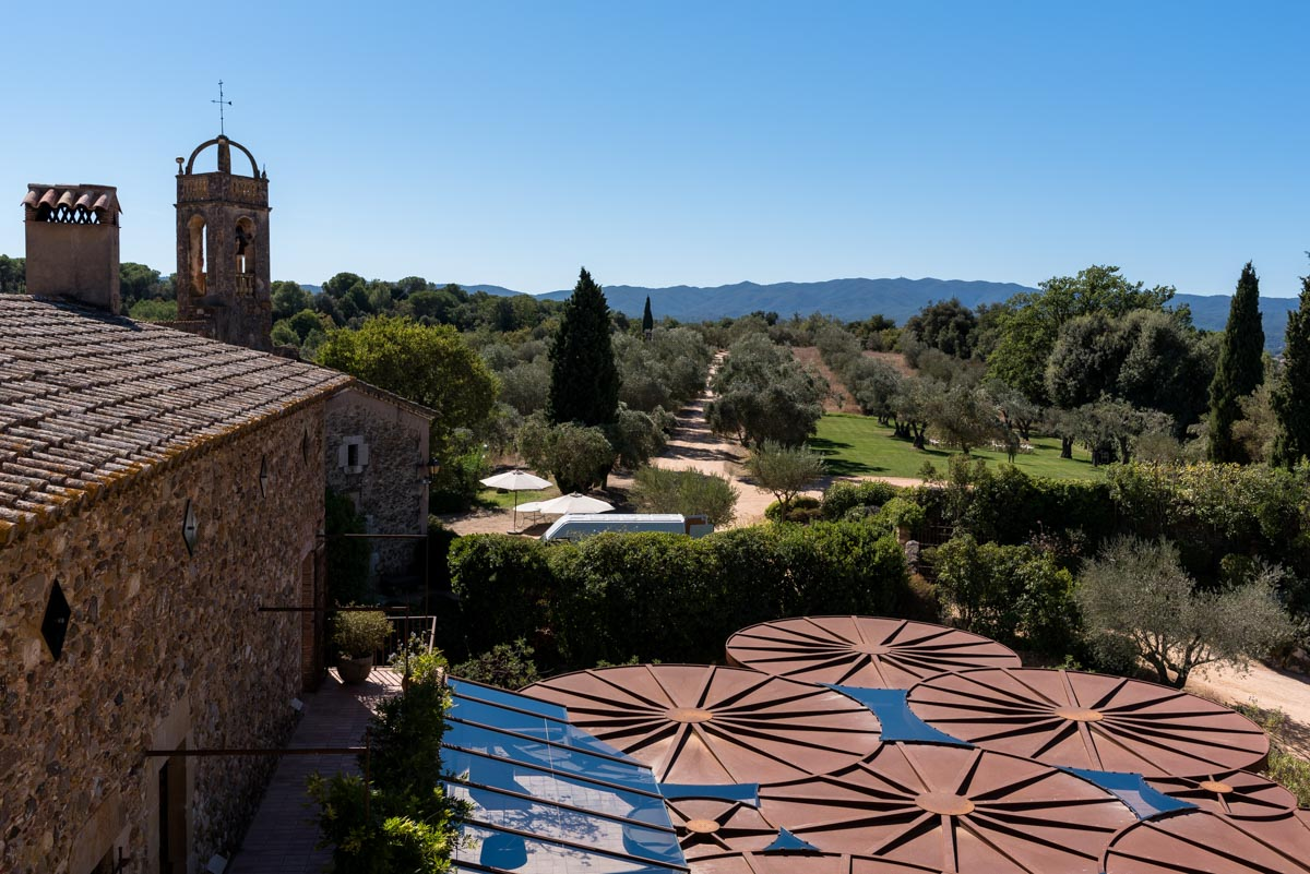 Photograph of view at castell d'emporda wedding venue in Spain