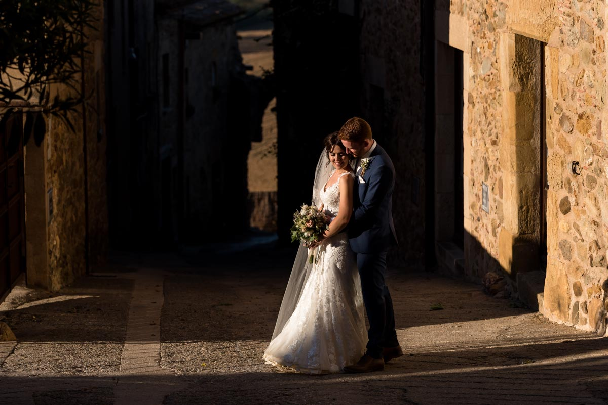 couple photograph of rebecca and matt at their wedding at castell d'emporda in spain