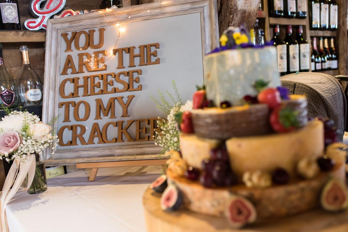 odo's Barn wedding. Cheese cake