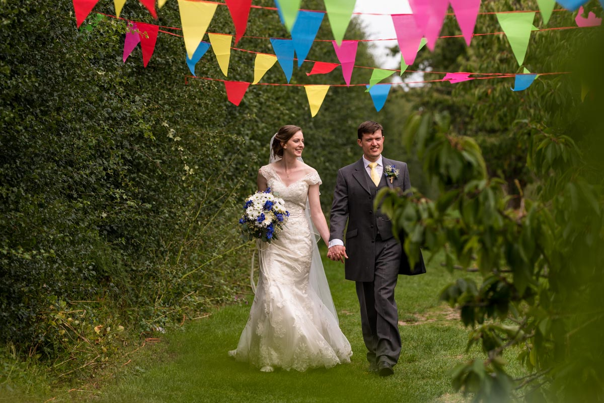 Photograph of Hannah and Matthew at their canterbury wedding venue