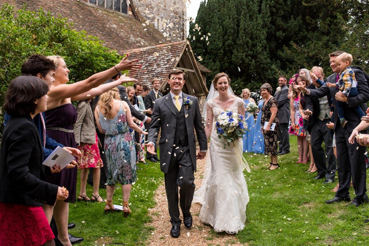 Canterbury wedding photography, confetti photo