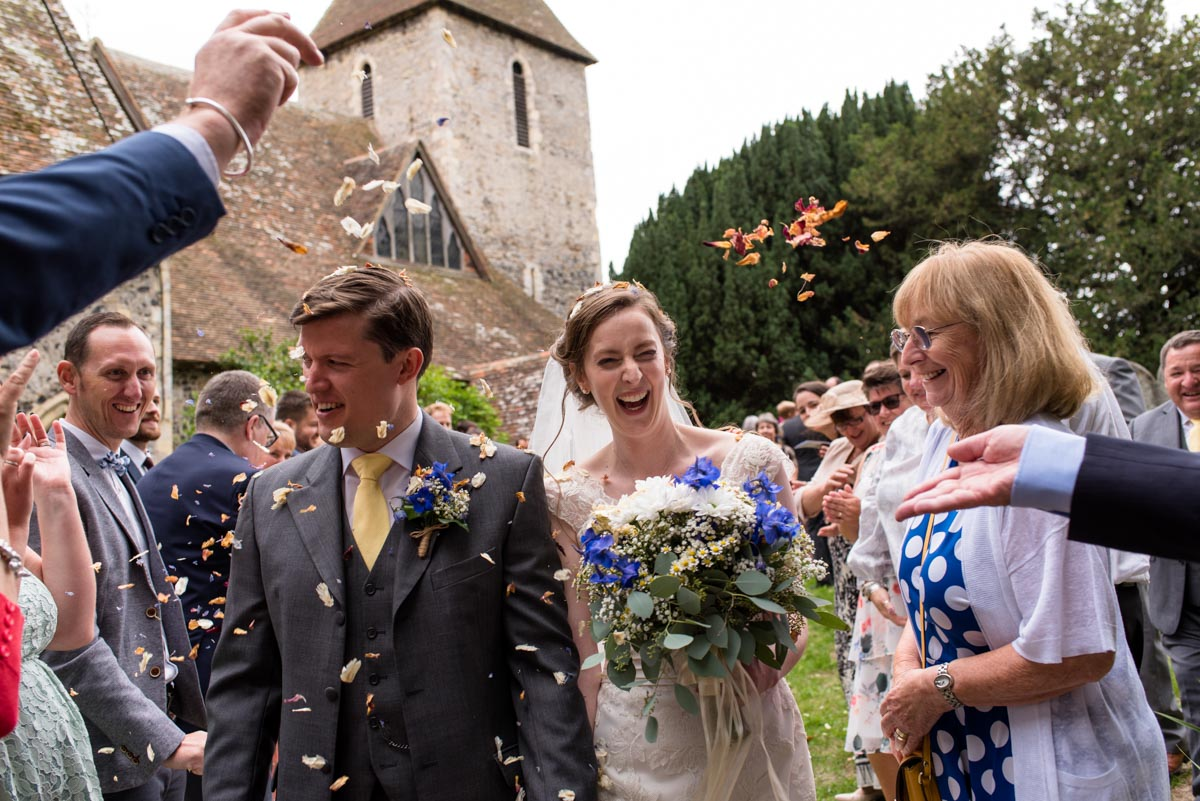 Church confetti photography in Canterbury, kent