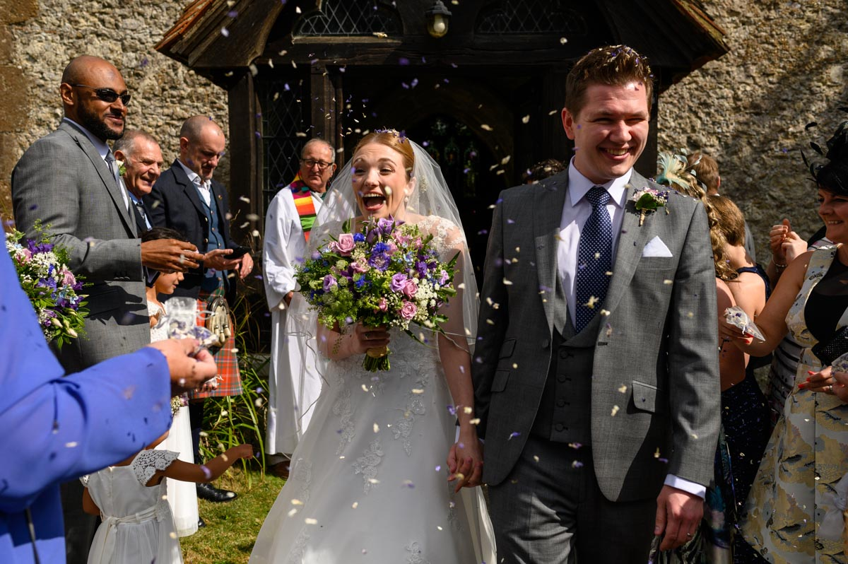 Bethany and Jack at their Kent Church wedding