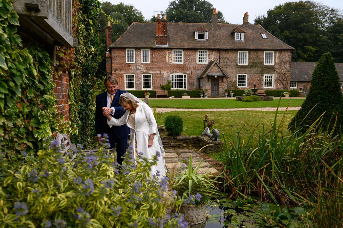 Tricia & Ian photographed at Solton Manor wedding venue in Kent