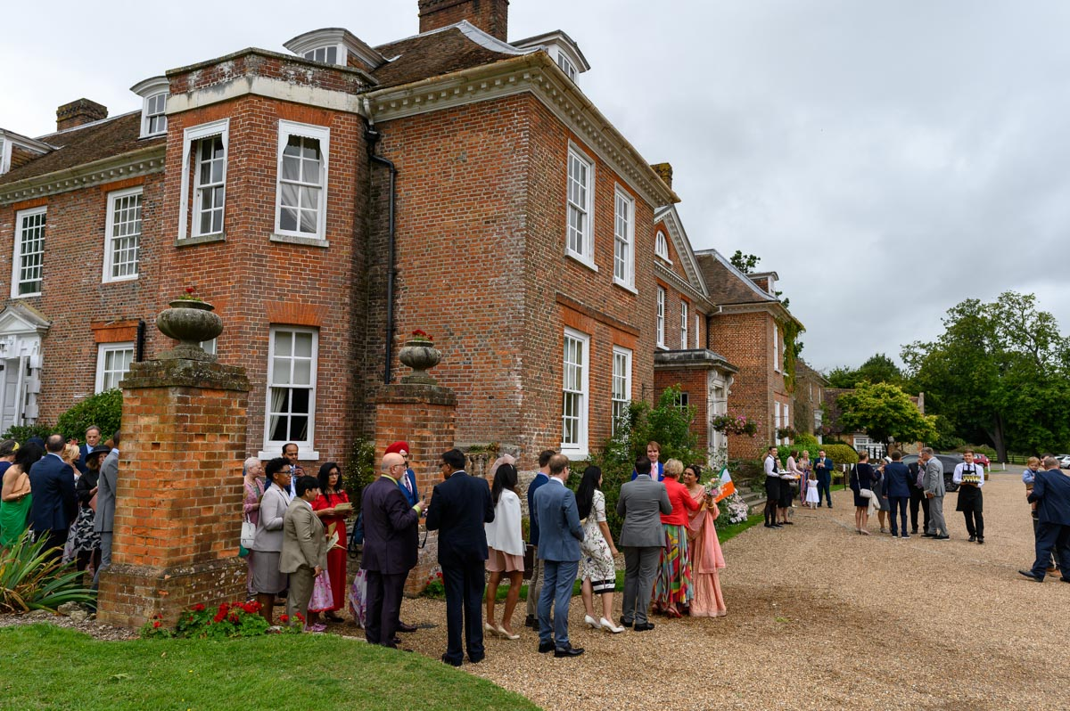 Photograph of Chilston Park Hotel during Vinita and Dougs wedding